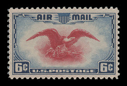 U.S. Scott # C  23, 1938 6c Eagle and Shield, dark blue & carmine