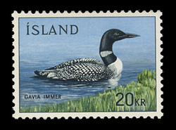 ICELAND Scott #  388, 1967 Common Loon