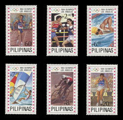 PHILIPPINES Scott # 1699-1704, 1984 Summer Olympics, Los Angeles (Set of 6)