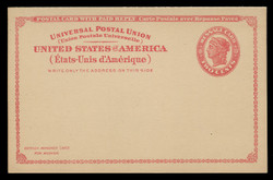 U.S. Scott # UY 11, 1924 2c Liberty Head (Red) - Mint International Message-Reply Card - FOLDED