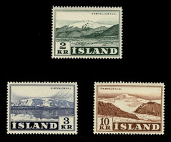 ICELAND Scott #  302-4, 1957 Glaciers - Snaefellsjokull, etc. (Set of 3)