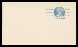 U.S. Scott # UY 23, 1972 6c John Hanson - Patriot Series - Mint Message-Reply Card - FOLDED
