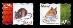 ICELAND Scott # 1037-8, 2005 Mice - Apodemus Sylvaticus & Mus Musculus (Set of 2)