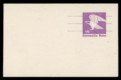 U.S. Scott # UY 31, 1981 (12c) Eagle - Domestic Rate (Non-Denominated) - Mint Message-Reply Card, DULL PAPER - FOLDED