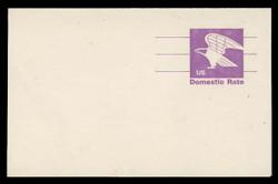 U.S. Scott # UY 31FM, 1981 (12c) Eagle - Domestic Rate (Non-Denominated) - Mint Message-Reply Card, FLUORESCENT (Medium Bright) PAPER - FOLDED