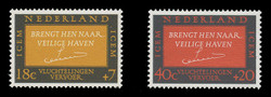 NETHERLANDS Scott # B 407-8, 1966 Intergovt. Comm. for European Migration (Set of 2)