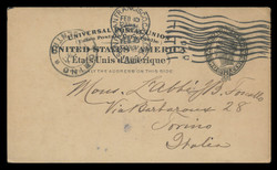 U.S. Scott # UX  16, 1898 2c Liberty Head, black on buff, no border - Used Postal Card