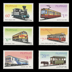 PHILIPPINES Scott # 1731A-F, 1984 Philippine Transportation (Set of 6)