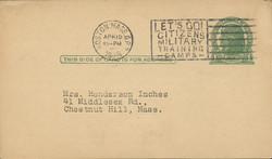 U.S. Scott # UX  27 x/UPSS #S37D, 1914 1c Thomas Jefferson, green on buff - Used Postal Card (See Warranty)