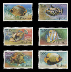 PHILIPPINES Scott # 1379-84, 1978 Tropical Fish (Set of 6)