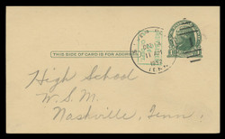 U.S. Scott # UX  39/UPSS #S56-2, 1952 2c on 1c Thomas Jefferson (UX27), green on buff - Used Postal Card (See Warranty)