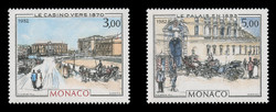 MONACO Scott #1344-5, 1982 Casino & Palace, Paintings by  Hubert Clerissi (Set of 2)