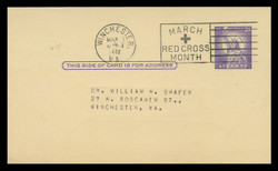 U.S. Scott # UX  46/UPSS #S63 Type 2, 1958 3c Statue of Liberty - Used Postal Card (See Warranty)