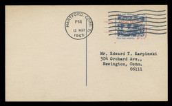 U.S. Scott # UX  51, 1964 4c Social Security - Used Postal Card