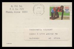 U.S. Scott # UX  80, 1979 10c Summer Olympics - Sprinter - Used Postal Card
