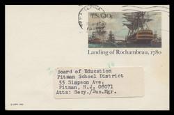 U.S. Scott # UX  84, 1980 10c Landing of Rochambeau - Patriot Series - Used Postal Card