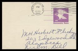 U.S. Scott # UX  88, 1981 (12c) Eagle - Domestic Rate - Used Postal Card, DULL PAPER (See Warranty)
