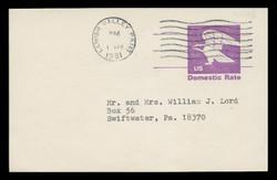 U.S. Scott # UX  88FM, 1981 (12c) Eagle - Domestic Rate - Used Postal Card, FLUORESCENT (Medium Bright) PAPER (See Warranty)