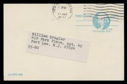 U.S. Scott # UX  89, 1981 12c Isaiah Thomas - Patriot Series - Used Postal Card