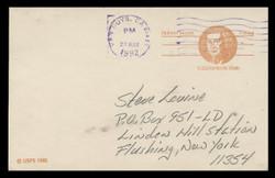 U.S. Scott # UX  92, 1981 (13c) Robert Morris - Patriot Series (Non-Denominated) - Used Postal Card
