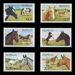 PHILIPPINES Scott # 1747A-F, 1984 Philippine Horses (Set of 6)