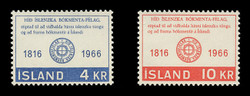 ICELAND Scott #  386-7, 1966 Icelandic Literary Society, 150th Anniversary (Set of 2)