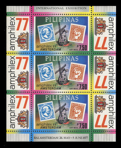 PHILIPPINES Scott # C 109, 1977 AMPHILEX '77 Souvenir Sheet, Perforated