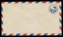 U.S. Scott # UC  1/13, UPSS #AM3/28 1929 5c Blue Plane (Tail Leans), Border Type a/1  - Mint (See Warranty)