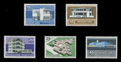 NETHERLANDS Scott # B 444-8, 1969 Contemporary Architecture (Set of 5)