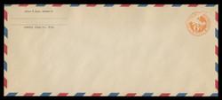 "U.S. Scott # UC  3/23, UPSS #AM16/36 1934 6c Orange Plane, ""6"" = 6 1/2 mm, Border Type d/4  - Mint (See Warranty)"
