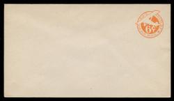 "U.S. Scott # UC  5N/13, UPSS #AM22/41 1944 6c Orange Plane, ""6"" = 5 1/2 mm, No Border  - Mint (See Warranty)"