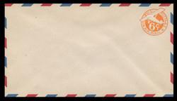 "U.S. Scott # UC  6/13, UPSS #AM24/39 1944 6c Orange Plane, ""6"" = 6 mm, Leaning Tail, Border Type b/2  - Mint (See Warranty)"