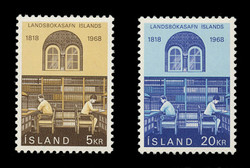 ICELAND Scott #  400-1, 1968 National Library, Reykjavik, Sesquicentennial (Set of 2)