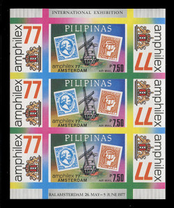 PHILIPPINES Scott # C 109x, 1977 AMPHILEX '77 Souvenir Sheet, Imperforate
