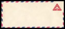 U.S. Scott # UC 40/23, UPSS #AM100/47 1968 10c Red Jet in Triangle, Border Type f/6  - Mint (See Warranty)