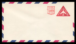 U.S. Scott # UC 41/12, UPSS #AM101/49 1968 10c Re-Value of 8c Red Jet in Triangle, Border Type f/6  - Mint (See Warranty)