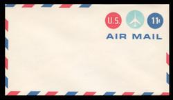 U.S. Scott # UC 43/12, UPSS #AM103/49A 1971 11c Jet Plane in Center Circle, Border Type f/6  - Mint (See Warranty)