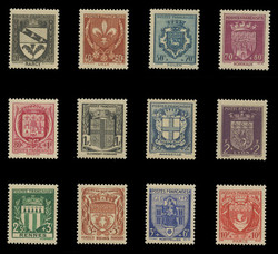 FRANCE Scott # B 117-28, 1941 Arms of Various Cities (Set of 12)
