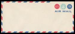 U.S. Scott # UC 43/23, UPSS #AM104/47 1971 11c Jet Plane in Center Circle, Border Type f/6  - Mint (See Warranty)