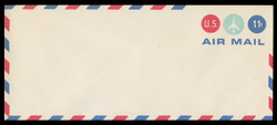 U.S. Scott # UC 43/23, UPSS #AM104/49 1971 11c Jet Plane in Center Circle, Border Type f/6  - Mint (See Warranty)