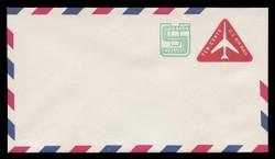 U.S. Scott # UC 45/12, UPSS #AM105/48A 1973 11c Re-Value of 10c Red Jet in Triangle, Border Type f/6  - Mint (See Warranty)