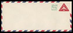 U.S. Scott # UC 45/23, UPSS #AM106/47 1973 11c Re-Value of 10c Red Jet in Triangle, Border Type f/6  - Mint (See Warranty)