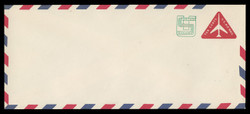 U.S. Scott # UC 45/23, UPSS #AM106/49A 1973 11c Re-Value of 10c Red Jet in Triangle, Border Type f/6  - Mint (See Warranty)