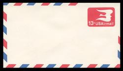 U.S. Scott # UC 47/12, UPSS #AM107/49A 1973 13c Red SYmbolic Bird, Border Type g/7  - Mint (See Warranty)