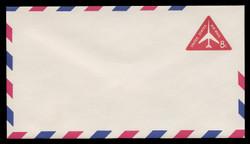 U.S. Scott # UC 37/12, UPSS #AM95/48V 1962 8c Red Jet in Triangle, Border Type f/6, Violet Lozenges - Mint (See Warranty)