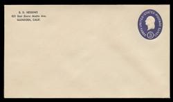 U.S. Scott # U 534/12, UPSS #3362a/46 1950 3c Washington, Die 4 - Mint (See Warranty)