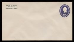 U.S. Scott # U 534a/10, UPSS #3341/42 1950 3c Washington, Die 1 - Mint (See Warranty)