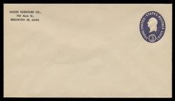 U.S. Scott # U 534b/10, UPSS #3346/43 1950 3c Washington, Die 2 - Mint (See Warranty)