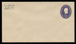 U.S. Scott # U 534c/10, UPSS #3352/45 1950 3c Washington, Die 3 - Mint (See Warranty)
