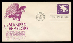 U.S. Scott #U550 5c Eagle Envelope First Day Cover.  Anderson cachet, PURPLE variety.